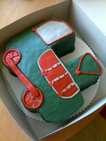 ... - Fotoalbum - dětské dorty - Dětské dorty - parní lokomotiva